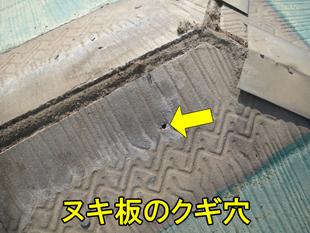 4ヌキ板のクギ穴310
