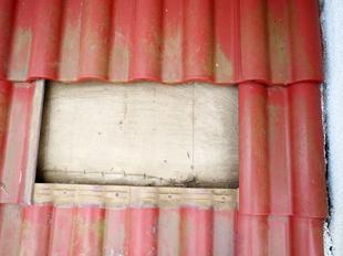 瓦交換の工程その②瓦の下地を点検する