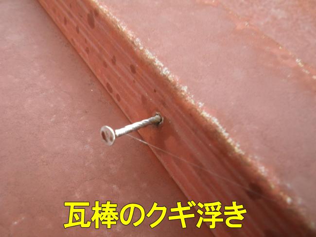 20トタン屋根クギ浮き
