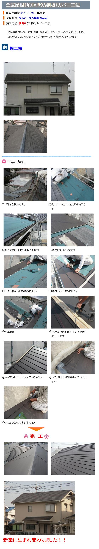 ガルバリウム鋼板修理工程