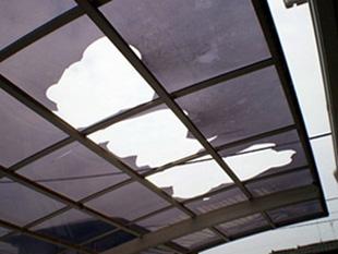 雪災:カーポート屋根