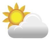 ベランダ屋根:日差し普通