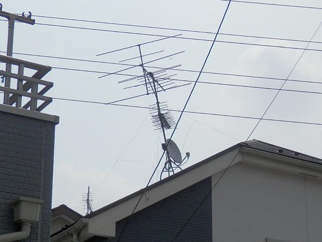 テレビアンテナ修理:傾き