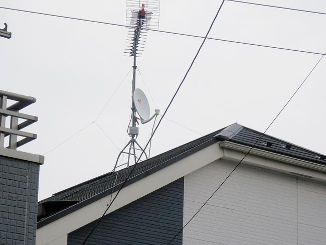 テレビアンテナ修理完了