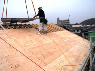 43屋根構造:野地板