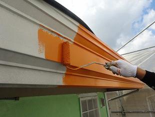 41破風板:塗装修理中