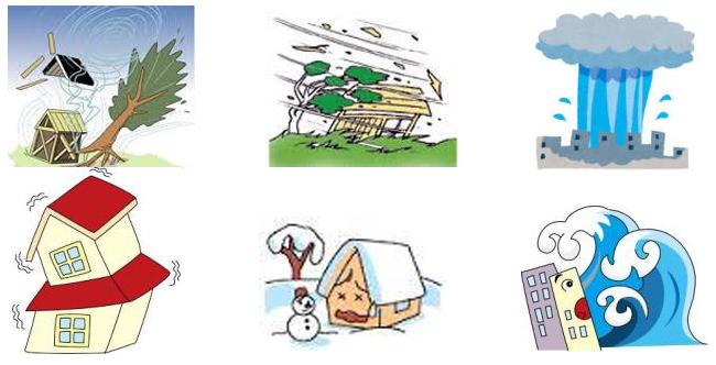 自然災害6種