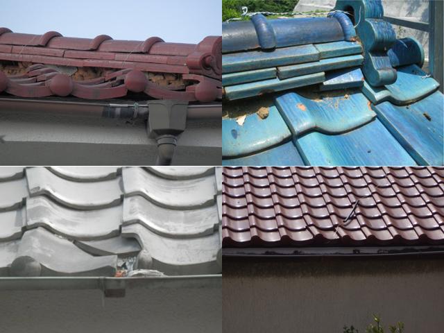 母屋の屋根修理