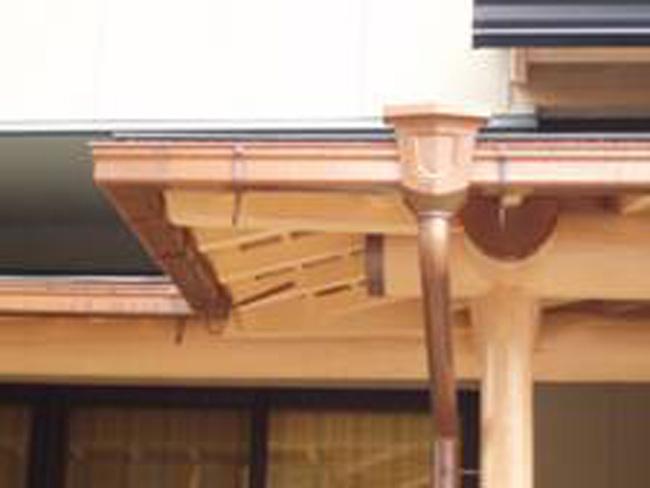 雨樋:銅製