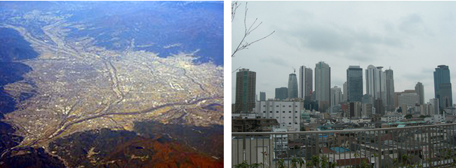 突風原因4:地形ビル