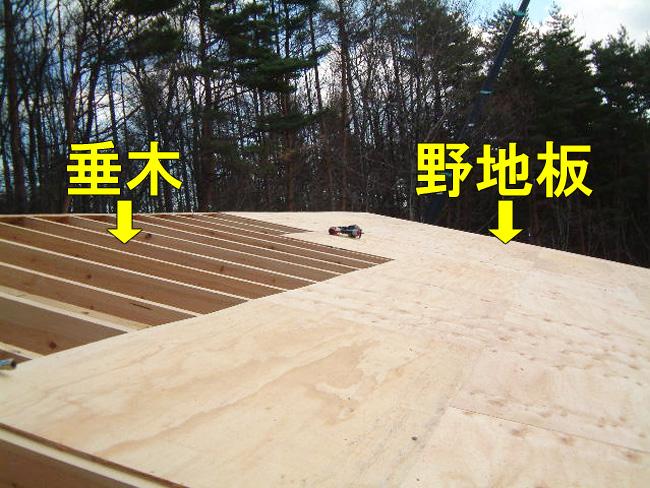 垂木:野地板