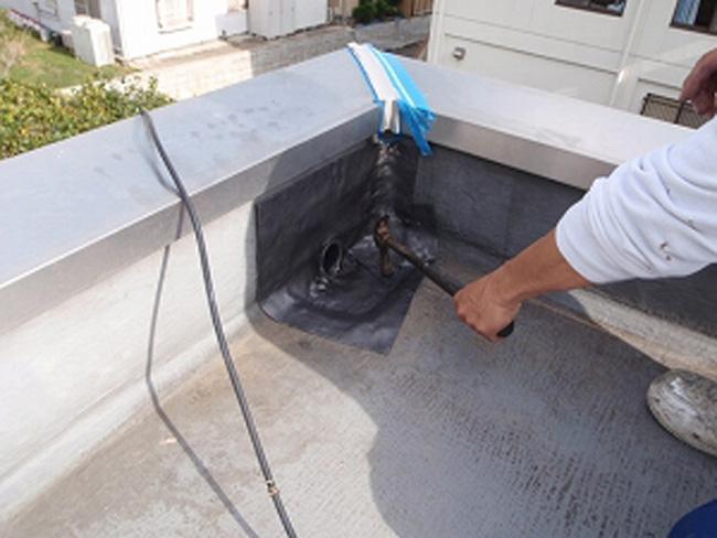 陸屋根:排水口