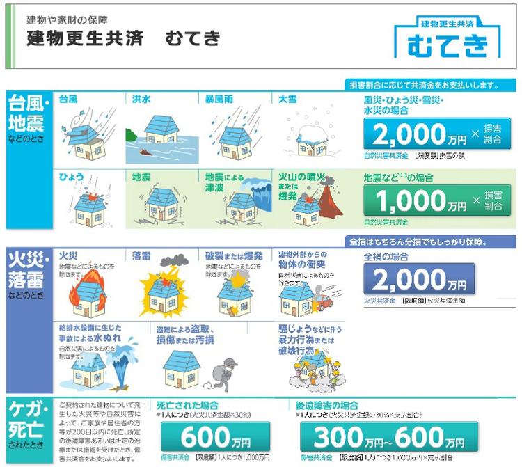 台風:JA共済:建物更生共済むてき