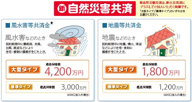 台風:全労災:新自然災害共済