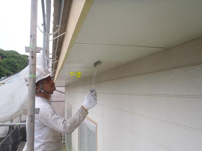 軒天材:塗装修理1