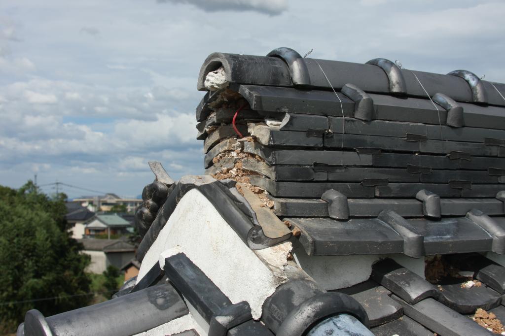 雷災害:屋根