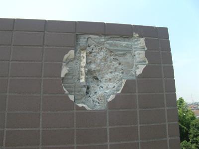 雷災害:外壁
