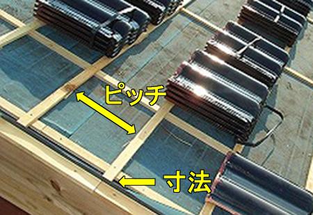 瓦桟の構造